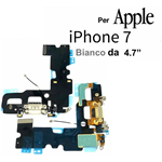 FLAT FLEX CARICA PER APPLE IPHONE 7 CONNETTORE RICARICA + MICROFONO BIANCO