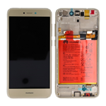 DISPLAY LCD + TOUCH SCREEN SCHERMO + FRAME + BATTERIA ORIGINALE  HUAWEI ASCEND P8 LITE 2017 GOLD SERVICE PACK