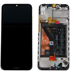 TOUCH VETRO LCD DISPLAY+ FRAME + BATTERIA ORIGINALE Huawei Y6 2019 / HONOR 8A MRD-LX1 LX2 NERO