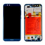 TOUCH VETRO  LCD DISPLAY FRAME ORIGINALE HUAWEI HONOR 9 LITE LLD-L31 AL00 AL09 BLU