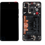 DISPLAY LCD + TOUCH SCREEN SCHERMO ORIGINALE HUAWEI P30 NERO SERVICE PACK ELE L09 L29