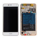 TOUCH SCREEN VETRO LCD DISPLAY + FRAME ORIGINALE Huawei NOVA YOUNG Y6 2017 BIANCO MYA-L11