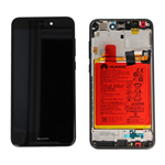 DISPLAY LCD + TOUCH SCREEN SCHERMO + FRAME + BATTERIA ORIGINALE  HUAWEI ASCEND P8 LITE 2017 NERO SERVICE PACK