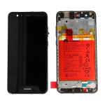VETRO DISPLAY LCD TOUCH SCREEN + FRAME + BATTERIA ORIGINALE HUAWEI P10 LITE NERO WAS-LX1A SERVICE PACK